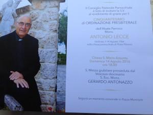 Don Antonio Lecce 50 anni al servizio della chiesa immagine 5