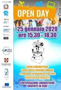 25 gennaio - open day