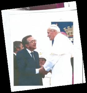Giovanni Paolo II+Andreotti