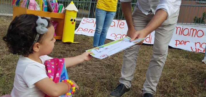 Sindaco De Donatis + bambina